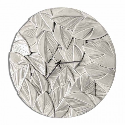 Round Modern Design Ceramic Wall Clock Made in Italy - Fogliao