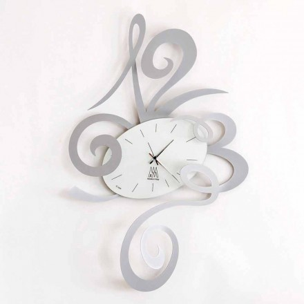 Wall Clock in Black Iron, Aluminum or Red Made in Italy - Rosbif