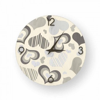 Wall clock in Cles design wood, made in Italy