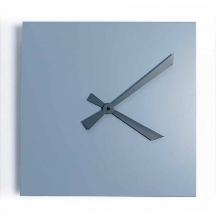 Industrial and Modern Square Wall Clock of Italian Design - Titan