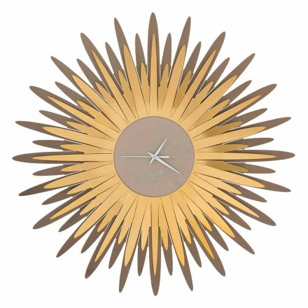 Modern Wall Clock with Iron Shape in Made in Italy - Fuoco