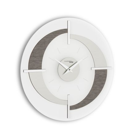Wall clock with a modern design Giove, made in Italy