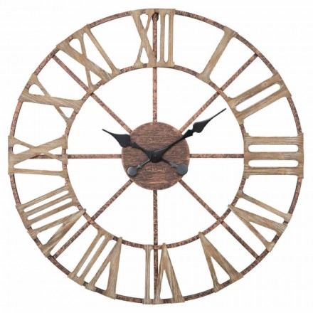 Modern Wall Clock Diameter 71.5 cm in Iron and MDF - Carcans