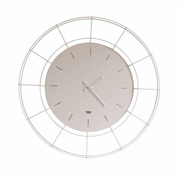 Modern Wall Clock in Colored Steel Made in Italy - Adalgiso