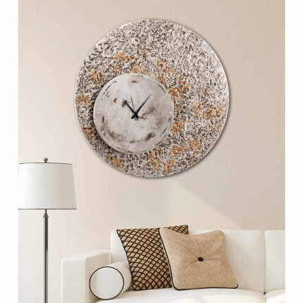 Modern design wall clock Eccli on two levels, made in Italy