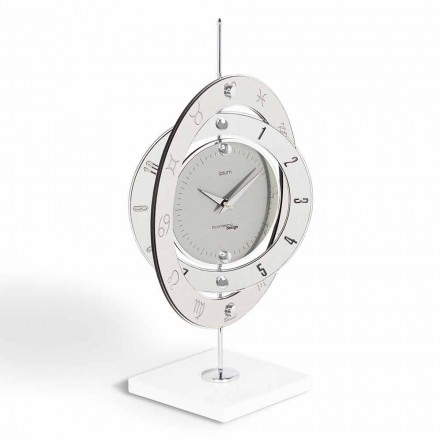 Modern design table clock Plutone, made in Italy