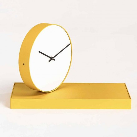 Swivel Table Clock with Steel Mirror Made in Italy - Meritorious