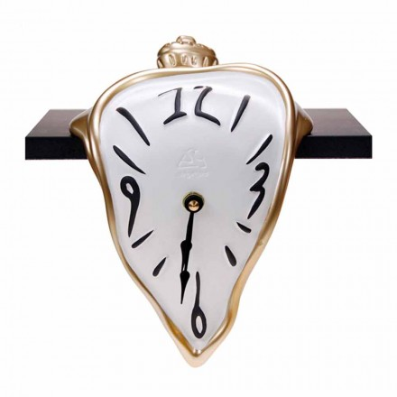 Resin Table Clock with Quartz Mechanism Made in Italy - Cate