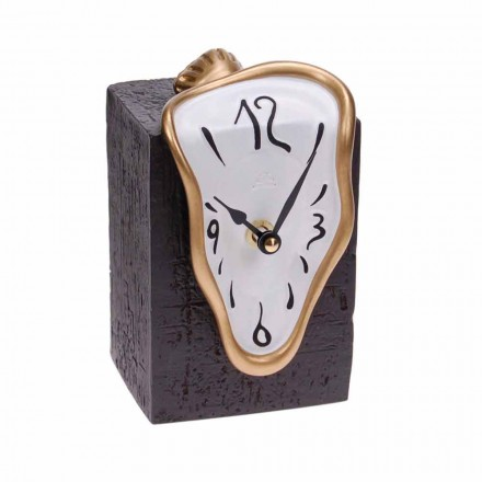 Modern Table Clock with Quartz Mechanism Made in Italy - Figaro