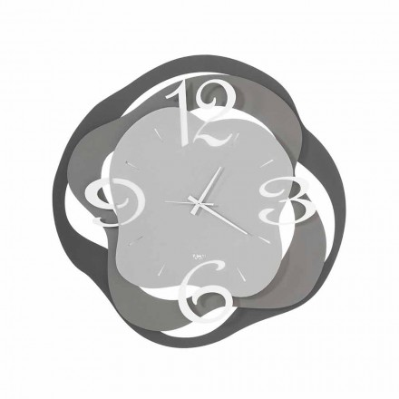 Modern Design Wall Clock in Iron Made in Italy - Gertrude