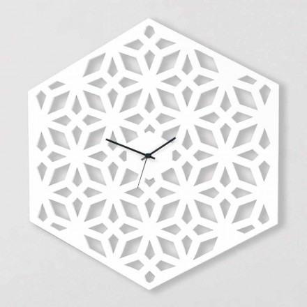 Large Wall Clock in White Dove-Gray or Green Design Wood - Tarto
