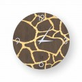 Acri modern design wall clock made of wood, produced in Italy