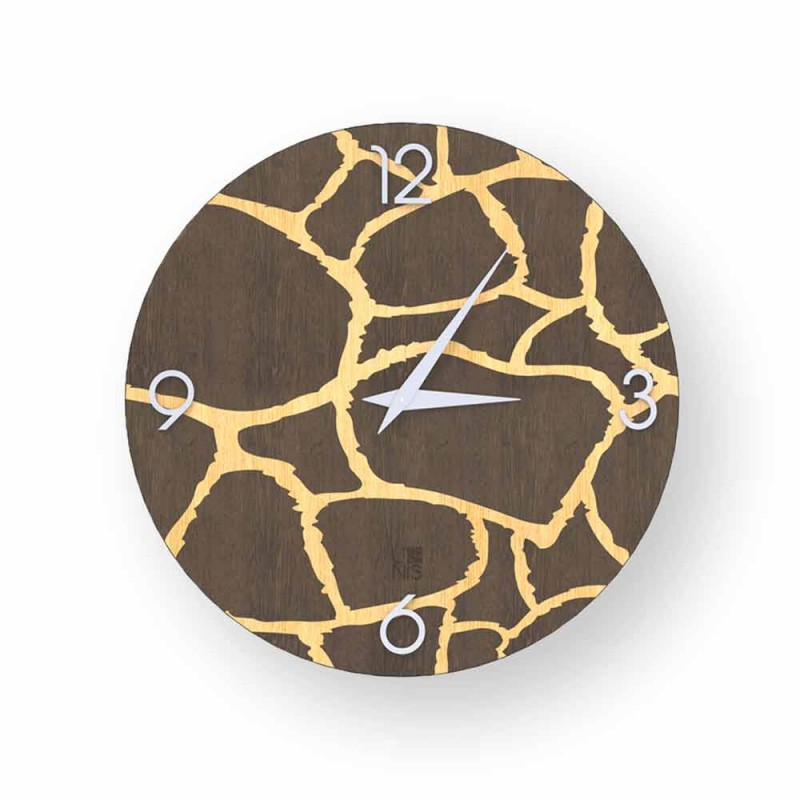 Acri wall clock in modern design, made in Italy