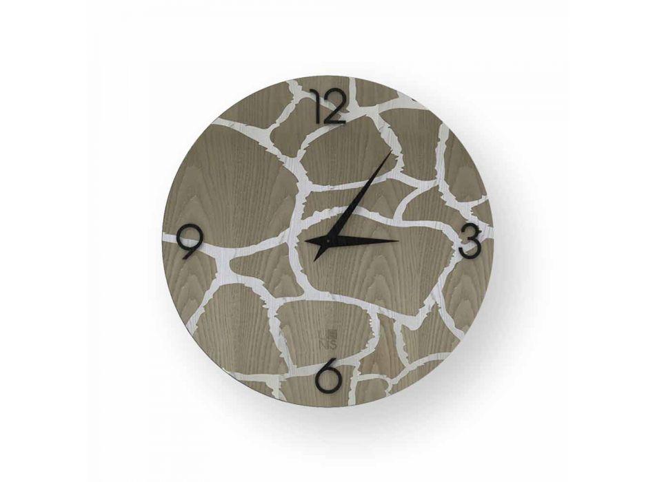 Acri wall clock in modern design, made in Italy