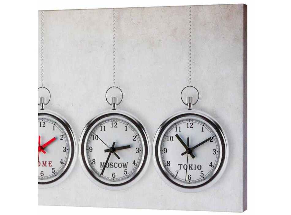 Modern clock with 4 time reminiscent pocket watches Joseph
