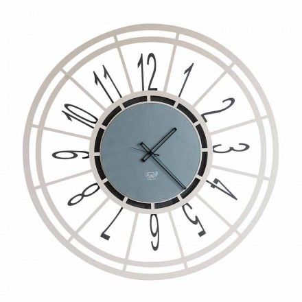 Modern Wall Clock in Iron Hazelnut or Black Made in Italy - Topino