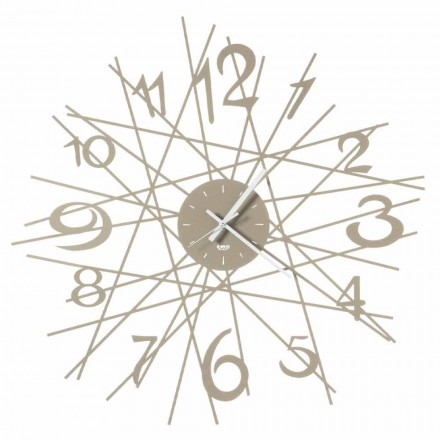 Round Iron Design Wall Clock Made in Italy - Kombo