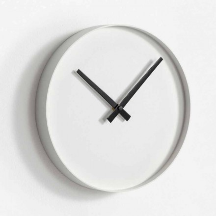 Round Design Wall Clock in Matt Painted Metal - Orogio