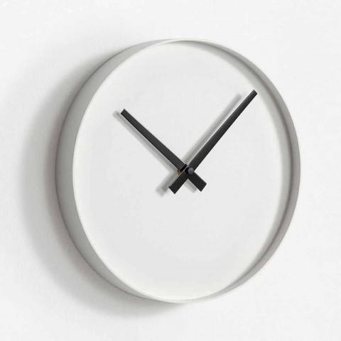 Round Design Wall Clock in Matt Painted Metal - Orogio