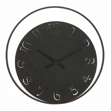 Round Wall Clock Diameter 60 cm Modern in Iron - Beatrix