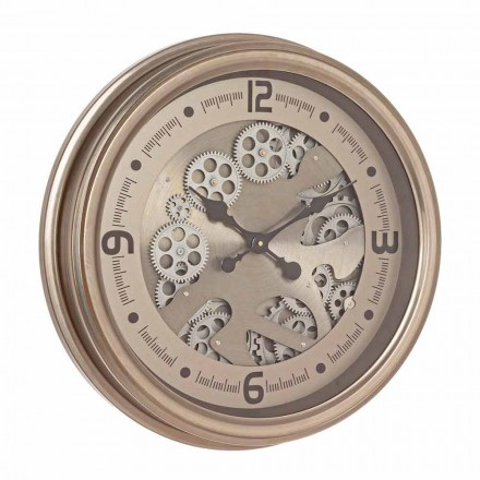 Round Wall Clock in Steel and Mdf Classic Design Homemotion - Tapestry