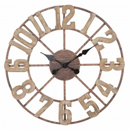 Round Wall Clock Modern Design in Iron and MDF - Taichi