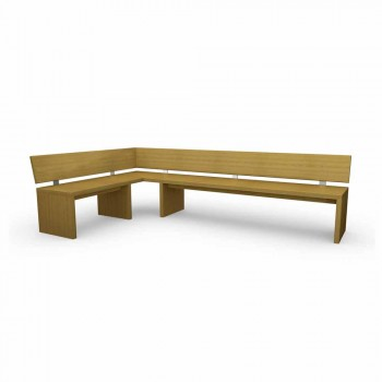 Angular design bench in gray oak, made in Italy, Candy
