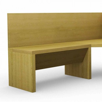 Corner bench in oak wood with modern design container, Cassy