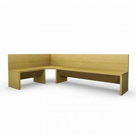 Corner bench in oak wood with modern design Cassy container