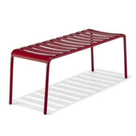 Low Bench in Outdoor Painted Aluminum, Made in Italy - Sybella