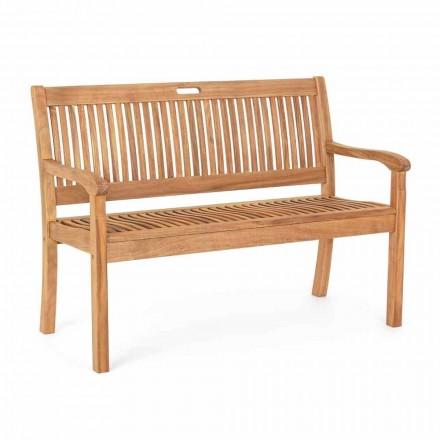Garden Bench in Acacia Wood for Outdoor 2 or 3 Seater Design - Roxen