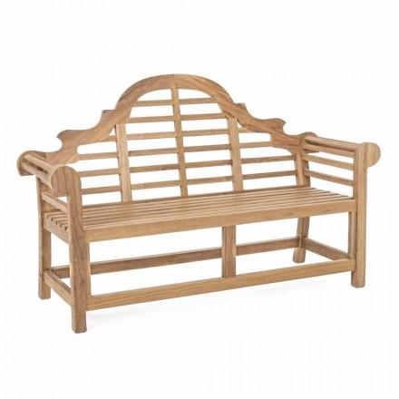 Rustic Design Teak Wood Garden Bench - Simonia
