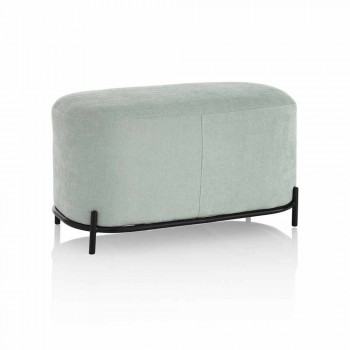 Bench for Living Room or Bedroom in Mint Green Design Fabric - Ambrogia