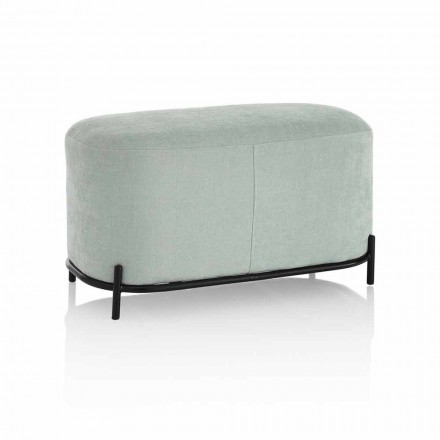 Bench for Living Room or Bedroom in Modern Design Fabric - Ambrogia