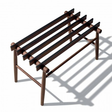 Luggage Bench in Solid Walnut or Ash Made in Italy - Anubi