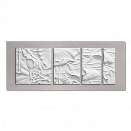 Decorative Wall Panel Modern Design White and Gray Ceramic - Giappoko