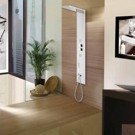 4 function stainless steel shower panel Manhattan Column by Bossini