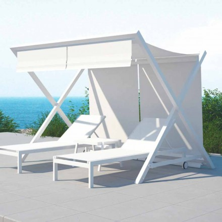 Outdoor Design Aluminum and Textilene Sunshade - Danube