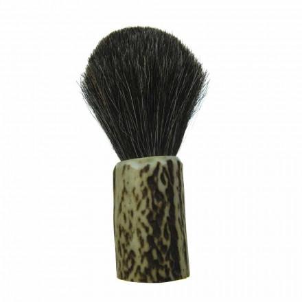 Handmade Shaving Brush with Made in Italy Horsehair Bristles - Euforia