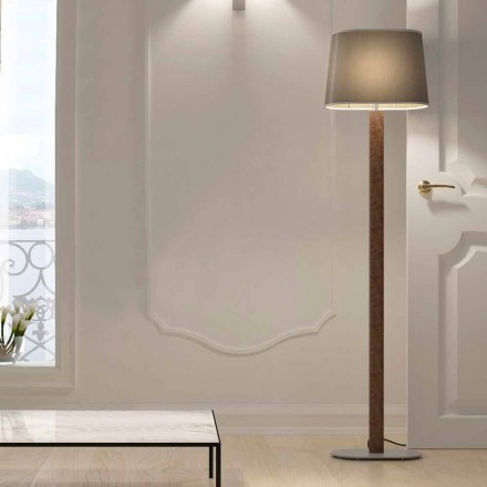 Modern Design Floor Lamp in Metal with Fabric Lampshade Made in Italy - Jump