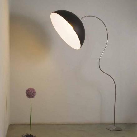 Modern H210cm floor lamp In-es.artdesign Half moon colored nebulite