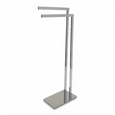 Modern Standing Towel Holder with 2 Iron Arms Made in Italy - Eneo