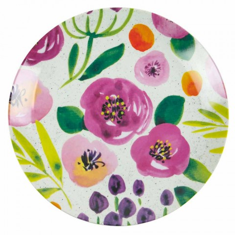 Colored Design Table Plates in Stoneware and Porcelain 18 Pieces - Tintarello