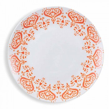 Colored Ethnic Plates Porcelain and Stoneware Table Service 18 Pieces - Greece