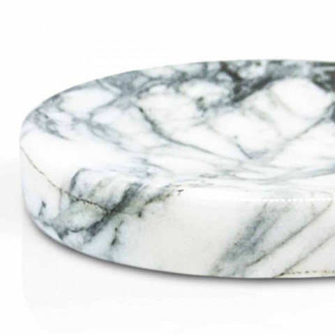 Bathroom soap dish in Paonazzo marble Modern Made in Italy - Argos