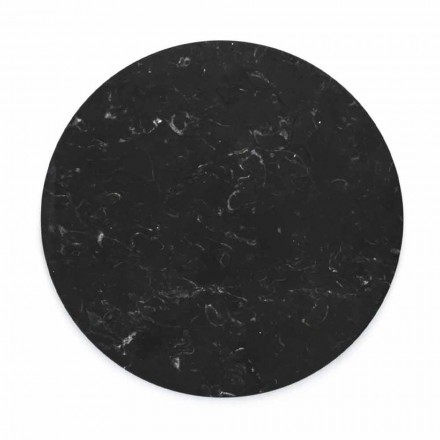 Round Cheese Plate in White or Black Marble Made in Italy - Kirby