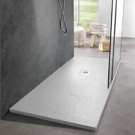 Modern Design Shower Tray 160x80 in Resin Slate Effect Finish - Sommo