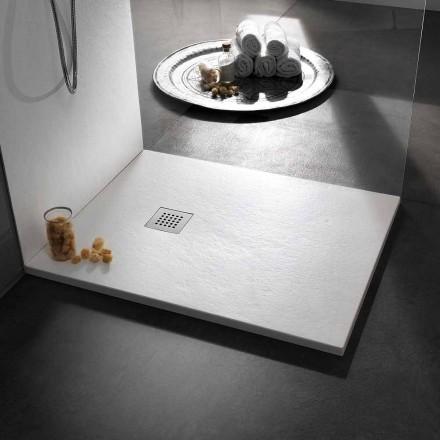 Modern Design Shower Tray in Resin Stone Effect 100x70 - Domio