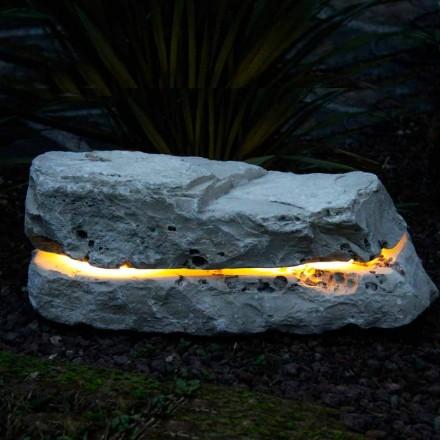 Illuminating stone with Fior di Pesco Carnico Sound sound diffuser