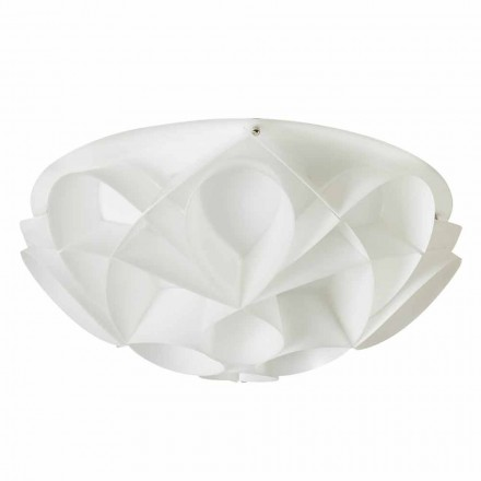 2-light modern ceiling light Lena, pearl white finish, 43 cm diam.